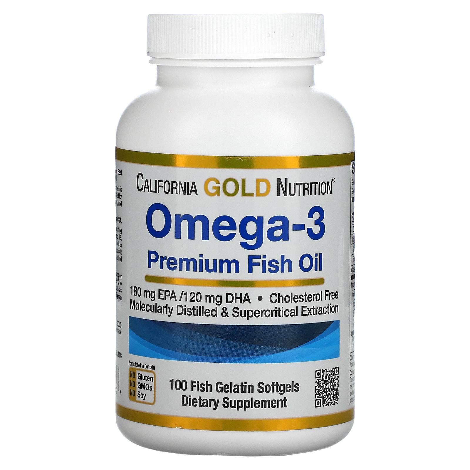 California Gold Nutrition, 歐米伽-3,優質魚油,100 粒魚明膠軟凝膠