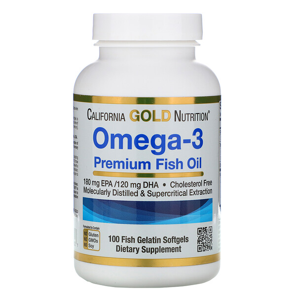 best protein supplement : California Gold Nutrition, Omega-3, Premium Fish Oil, 100 Fish Gelatin Softgels