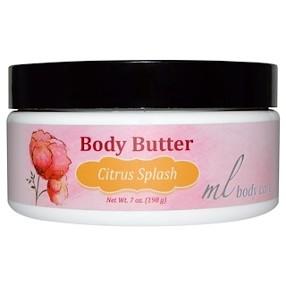 Madre Labs, Body Butter, Citrus Splash, Moisturizing with Argan & Marula Oils + Shea Butter, 7 oz. (198 g)