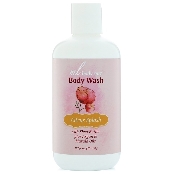Madre Labs, Body Wash, Citrus Splash, Cleansing with Argan & Marula Oils + Shea Butter, 8.7 fl. oz. (257 mL) (Discontinued Item)