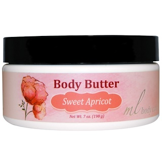 Madre Labs, Body Butter, Sweet Apricot, Moisturizing with Argan & Marula Oils + Shea Butter, 7 oz. (198 g)