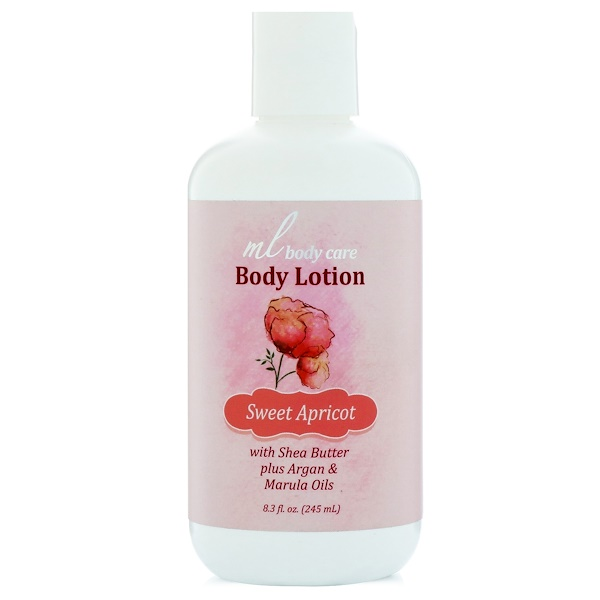 Madre Labs, Body Lotion, Sweet Apricot, Moisturizing with Shea Butter Plus Argan & Marula Oils, 8.3 fl. oz. (245 mL) (Discontinued Item)