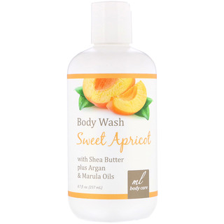 Madre Labs, Body Wash, Sweet Apricot with Shea Butter plus Argan & Marula Oils, 8.7 fl oz (257 ml)