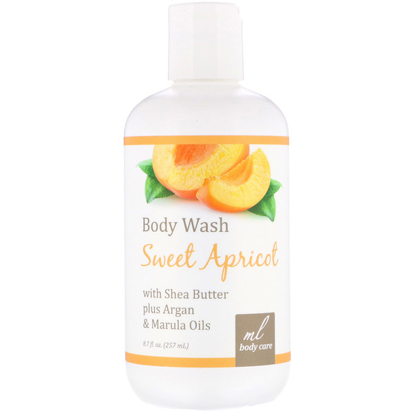 Madre Labs, Body Wash, Sweet Apricot, Cleansing with Argan & Marula Oils + Shea Butter, 8.7 fl. oz. (257 mL)