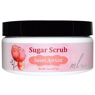 Madre Labs, Sugar Scrub, Sweet Apricot, Gentle Exfoliator with Argan & Marula Oils + Shea Butter, 7 oz. (198 g)