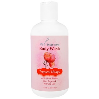 Madre Labs, Body Wash, Tropical Mango, Cleansing with Argan & Marula Oils + Shea Butter, 8.7 fl. oz. (257 mL)
