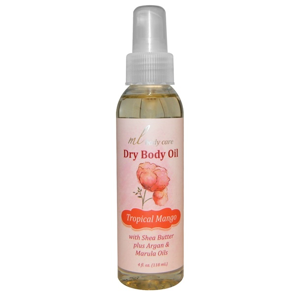 Madre Labs, Dry Body Oil, Tropical Mango, Light and Absorbs Fast with Argan & Marula Oils + Shea Butter, 4 fl. oz. (118 mL) (Discontinued Item)