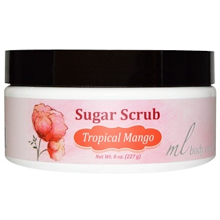 Madre Labs, Sugar Scrub, Tropical Mango, Gentle Exfoliator with Argan & Marula Oils + Shea Butter, 8 oz. (227 g)
