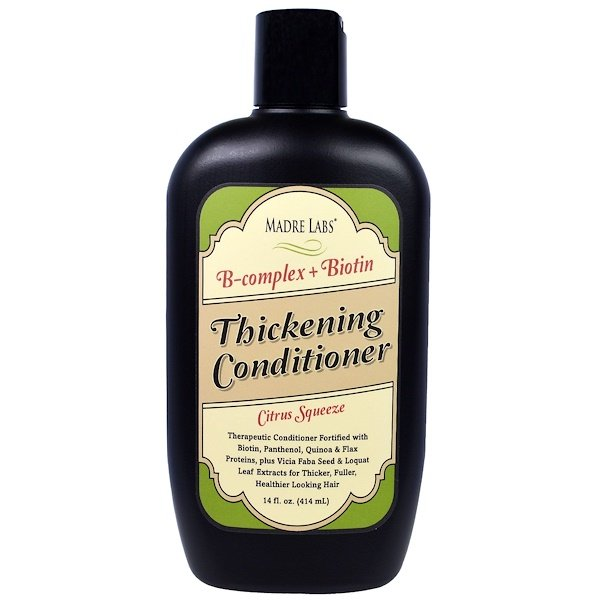 Madre Labs, Thickening B-Complex + Biotin Conditioner, No Sulfates, Citrus Squeeze, 14 fl oz (414 ml) (Discontinued Item)