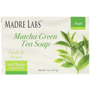 Madre Labs, Matcha Green Tea Soap Bar, with Rosemary, Marula & Argan, 5 oz (141 g)