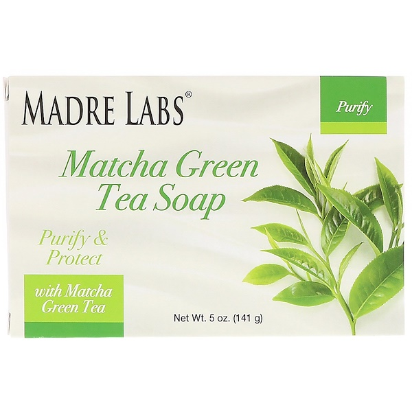 Madre Labs, Matcha Green Tea, Bar Soap, with Rosemary, Marula & Argan, 5 oz (141 g) (Discontinued Item)