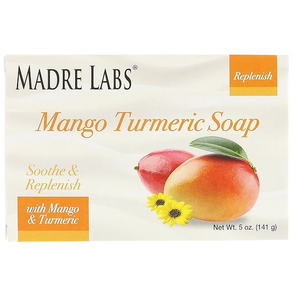 Madre Labs, Mango Turmeric, Bar Soap, With Vitamin E, Shea, Avocado, Jojoba & Cocoa Butter, 5 oz (141 g) (Discontinued Item)