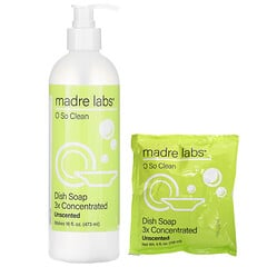 Madre Labs, Dish Soap, 3x Concentrate, Unscented, 1 Pouch, 4 oz (118 ml)