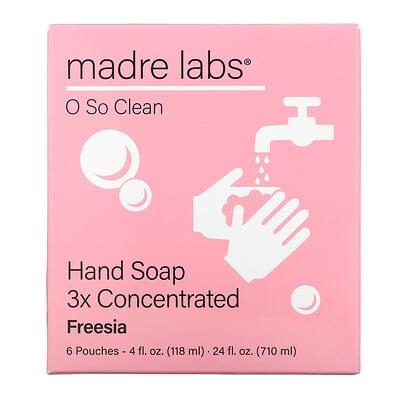 Купить Madre Labs Hand Soap, Freesia, 6 Pouches, 4 fl oz (118 ml) Each