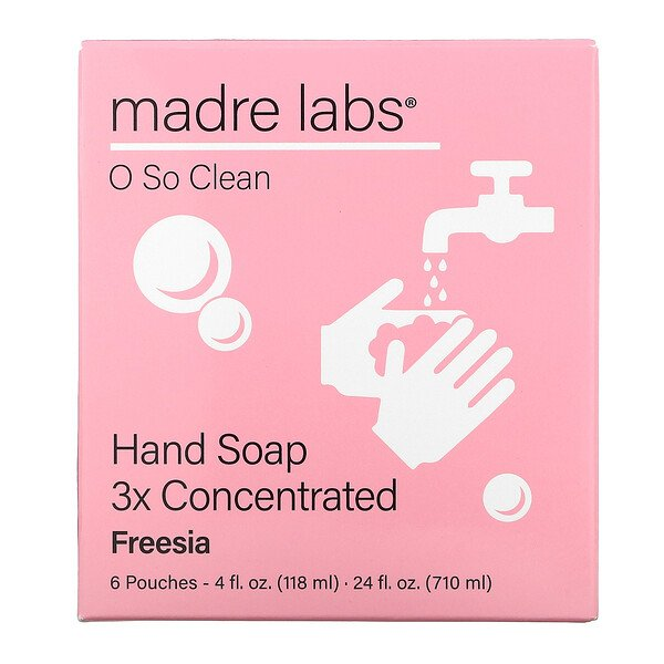 Hand Soap, Freesia, 6 Pouches, 4 fl oz (118 ml) Each
