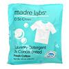 Madre Labs, Laundry Detergent, 3x Concentrate, Fresh Cotton, 6 Pouches, 4 fl oz (118 ml) Each