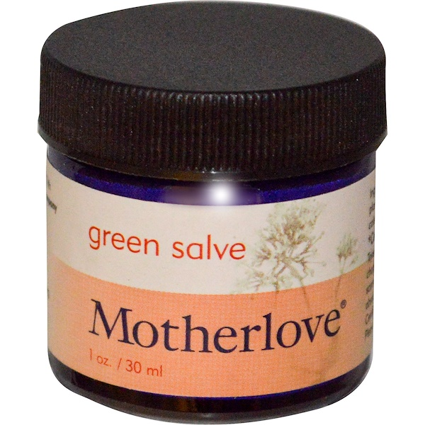 Motherlove, Green Salve, 1 oz (30 ml) (Discontinued Item)