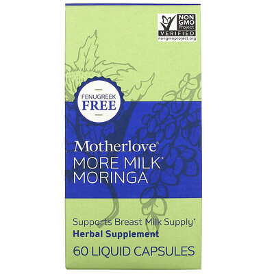 Motherlove More Milk Moringa, 60 Liquid Capsules  - Купить