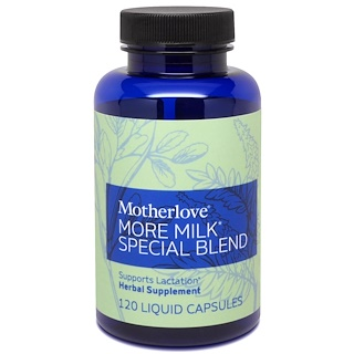 Motherlove, More Milk Special Blend, 120 Liquid Capsules
