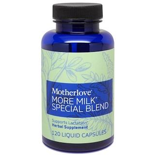 Motherlove, モアミルクスペシャルブレンド、液体カプセル120錠