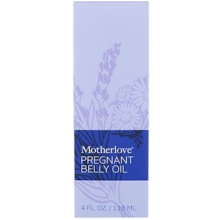 Motherlove, Pregnant Belly オイル, 4 オンス (118 ml)