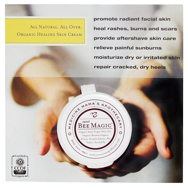 Medicine Mama's, Sweet Bee Magic, Organic Healing Skin Cream, 0.25 oz (Discontinued Item)