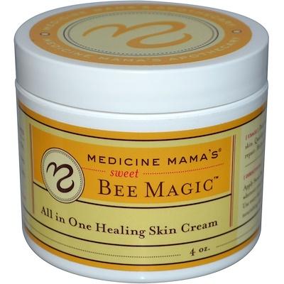 Medicine Mama's Сладкая магия пчел, все в одном, крем для залечивания кожи, 4 унции  - купить со скидкой