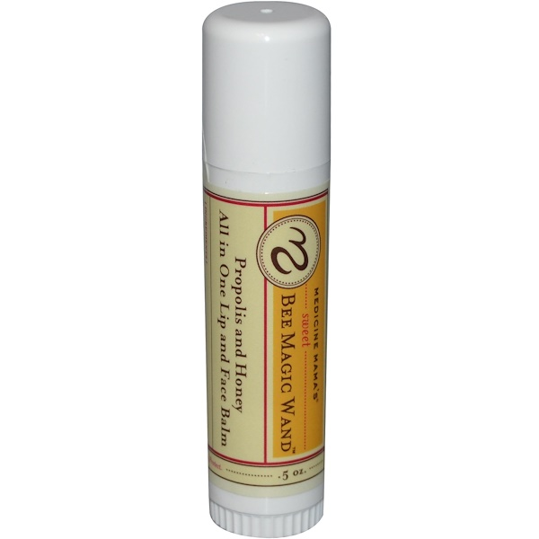 Medicine Mama's, Sweet Bee Magic Wand, All in One Lip & Face Balm, Propolis and Honey, .5 oz (Discontinued Item)
