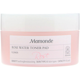 Mamonde, Rose Water Toner Pad, 40 Pads