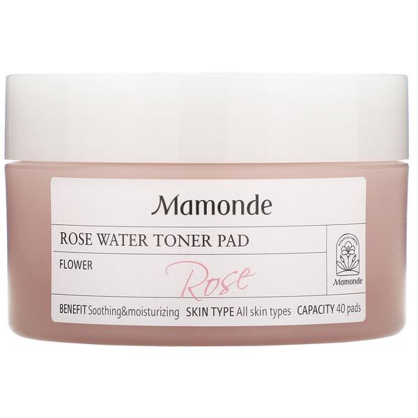 Mamonde, Rose Water Toner Pad, 40 Pads (Discontinued Item)