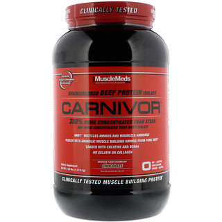 MuscleMeds, Carnivor, Bioengineered Beef Protein Isolate, Chocolate, 2.25 lbs (1,019.2 g)