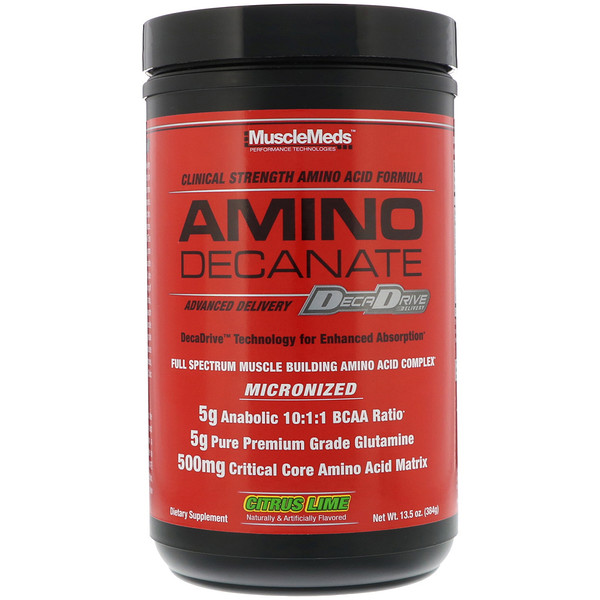 Amino Decanate, Citrus Lime, 13.5 oz (384 g)