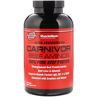 Аминокислоты Carnivor Beef, 100% чистый говяжий протеин, 300 таблеток - фото