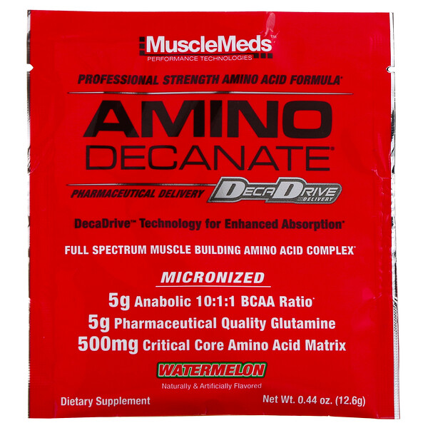 MuscleMeds, AMINO DECANATE, Watermelon, 0.44 oz (12.6 g)