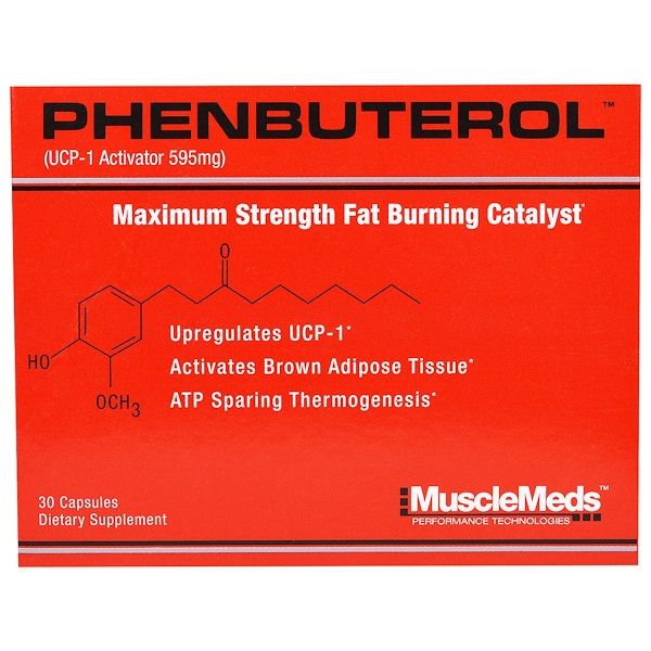 MuscleMeds, Phenbuterol, 595 mg, 30 Capsules (Discontinued Item)