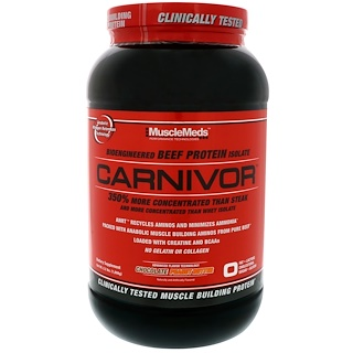 MuscleMeds, Carnivor, Bioengineered Beef Protein Isolate, Chocolate Peanut Butter, 2.2 lbs (1,008 g)