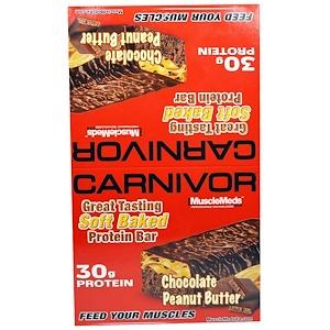 МаслМэдс, Carnivor, Chocolate Peanut Butter, Protein Bars, 12 Protein Bars, 3.2 oz (91 g) Each отзывы