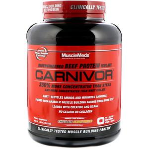 МаслМэдс, Carnivor, Bioengineered Beef Protein Isolate, Chocolate Peanut Butter, 4.4 lbs (2,016 g) отзывы