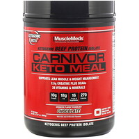 MuscleMeds, Carnivor, Keto Meal, Ketogenic Beef Protein Isolate, Chocolate, 23.57 oz (668 g)