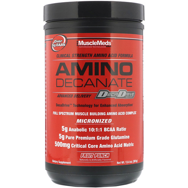 Amino Decanate, Fruit Punch, 13.4 oz (381 g)