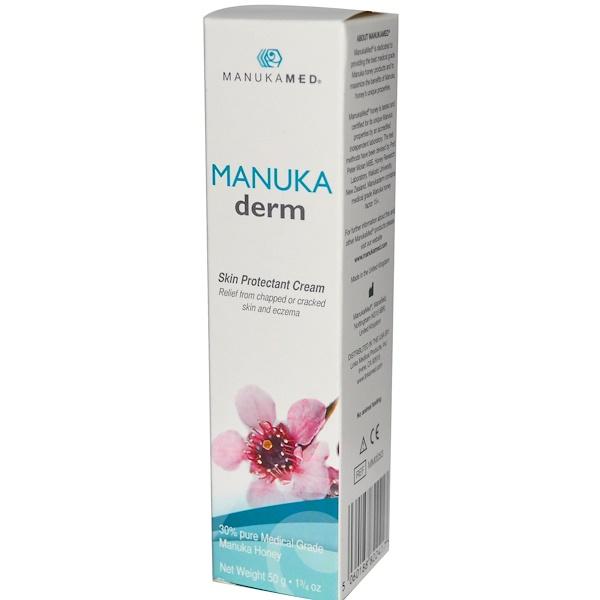 ManukaMed, MANUKADerm, Skin Protectant Cream, 1 3/4 oz (50 g) (Discontinued Item)