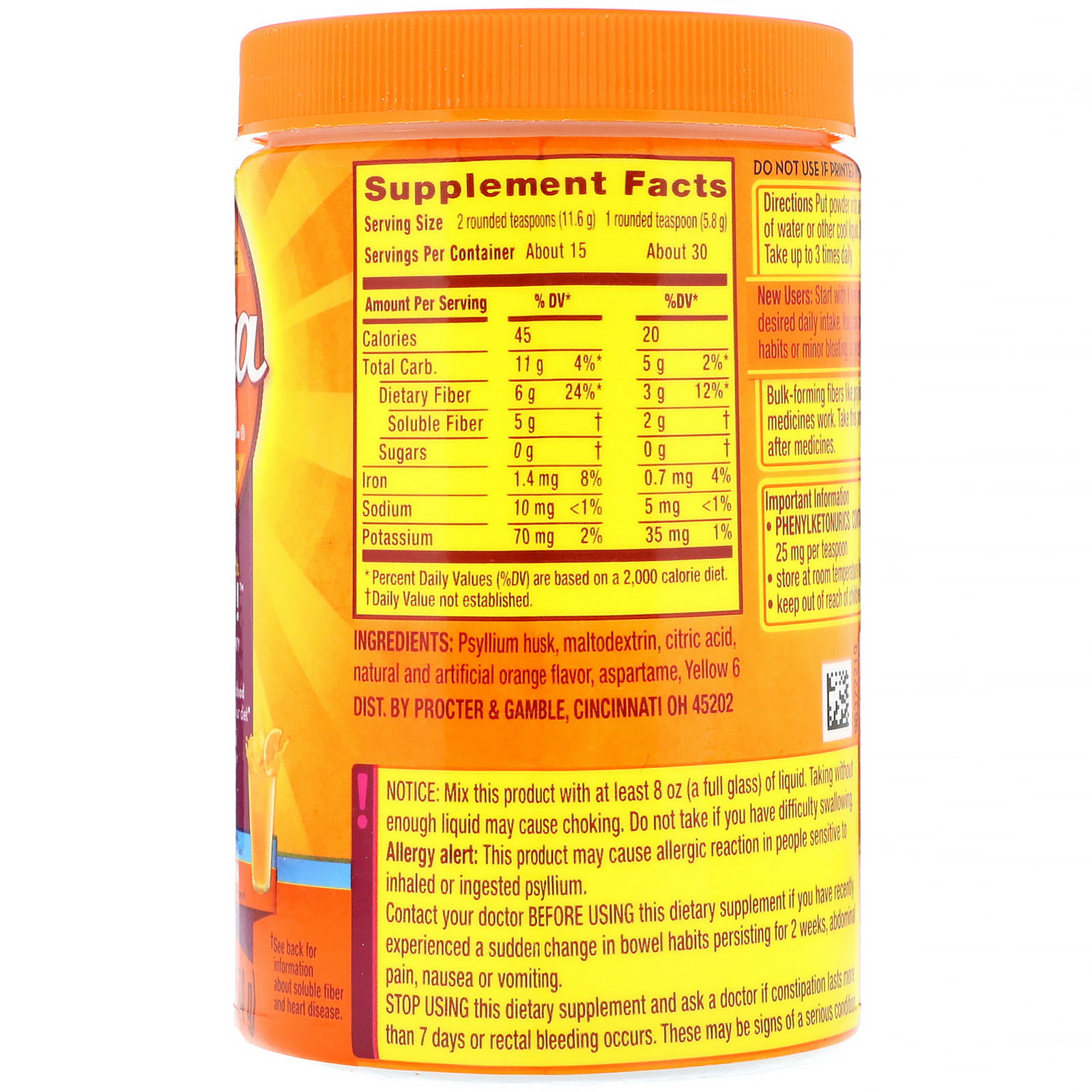 MultiHealth Fiber Powder, Sugar-Free