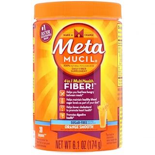 Metamucil, 4 in 1 MultiHealth Fiber Powder, Sugar-Free, Orange Smooth, 6.1 oz (174 g)