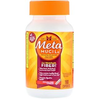Metamucil, MultiHealth Fibre 3 в 1, клетчатка подорожника, 160 капсул