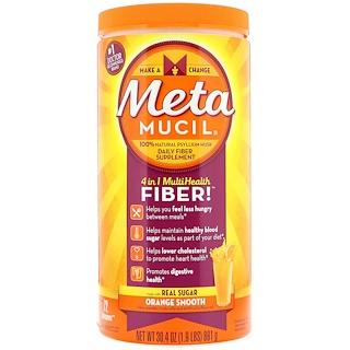 Metamucil, 4 in 1 MultiHealth Fiber Powder, Orange Smooth, 1.9 lbs (861 g)