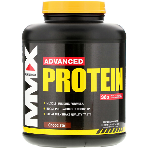 MuscleMaxx, Advanced Protein, Chocolate , 5 lb (2.27 kg) (Discontinued Item)