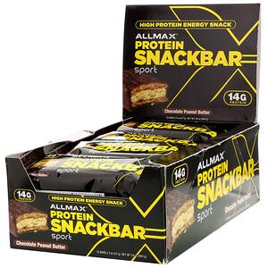 Оллмакс Нутришн, High Protein Energy Snack, Protein Bar, Chocolate Peanut Butter, 12 Bars, 2 oz (57 g) Each отзывы
