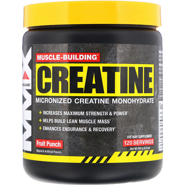 MuscleMaxx, Muscle-Building Creatine, Fruit Punch, 9.3 oz (264 g) (Discontinued Item)