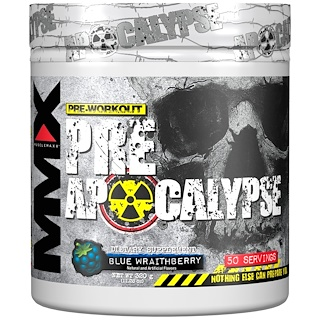 MuscleMaxx, PRE APOCALYPSE, Pre-Workout, Arginine + Taurine + Creatine + Beta-Alanine, Blue Wraithberry, 11.28 oz (320 g)