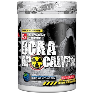 MuscleMaxx, BCAA Apocalypse, Intra-Workout, B12 + Glutamine + Taurine, Blue Wraithberry, 17.63 oz (500 g)